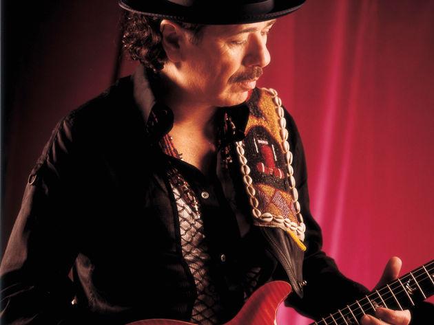 Carlos Santana soloing