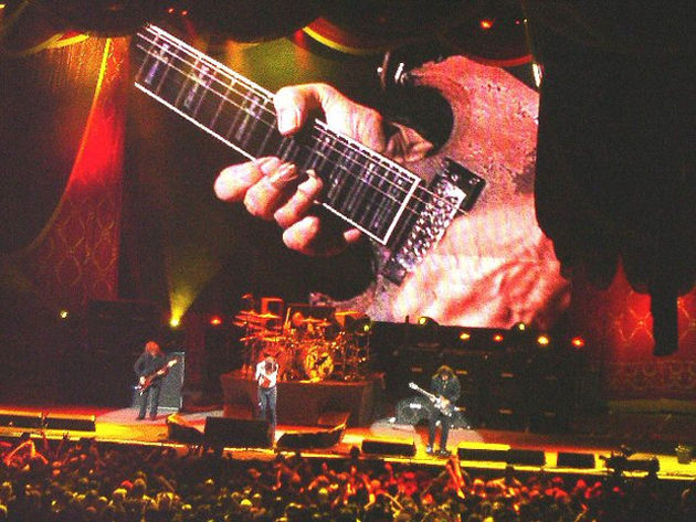 Tony iommi onstage with Black Sabbath