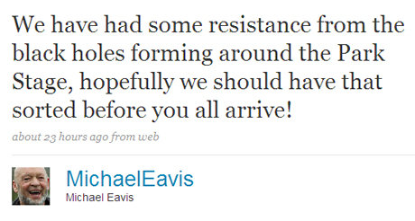 Michael eavis tweet