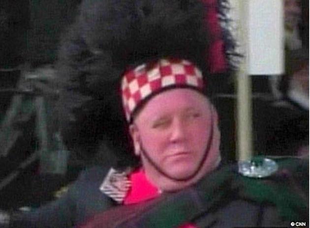 Drummer John Coleman: what a winker