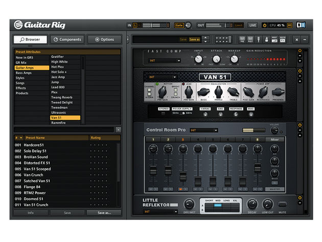Guitar Rig is easily one of the most feature-packed amp sims out there.