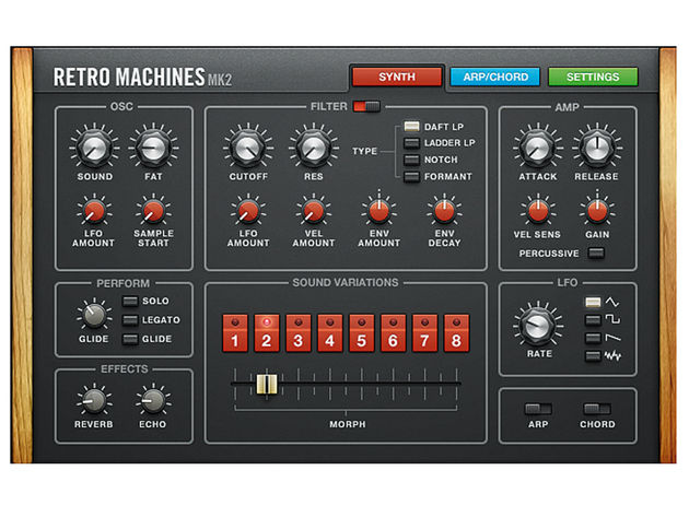 Retro Machines Mk2's simple interface belies the range of splendid synth sounds it can produce.