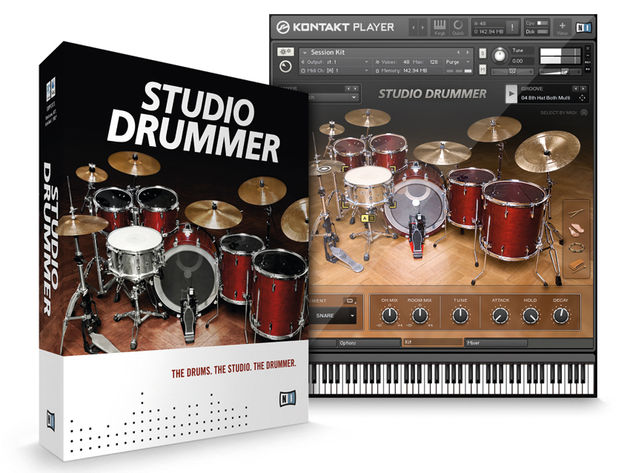 Studio Drummer offers three kits and over 3,500 drum patterns and fills.