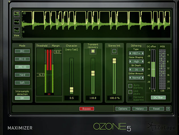 Each of Ozone 5's processing modules is available as an individual plug-in. Here's the Maximizer.