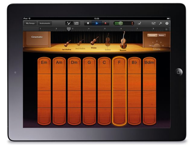 Garageband for iOS 1.2 finds Smart Strings becoming part of the instrument roster.