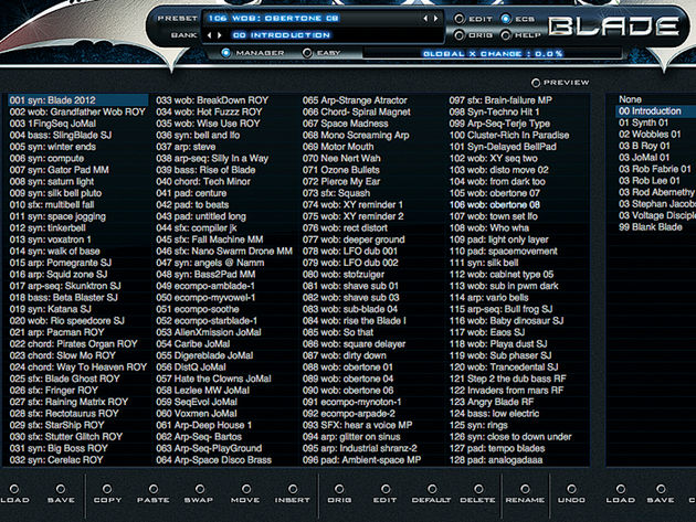 Rob Papen is a master patch programmer, and it shows in Blade's voluminous collection of presets.