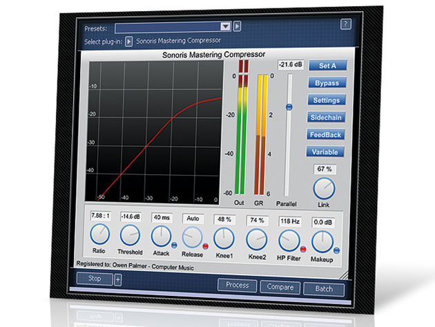 Sonoris Mastering Compressor (PC/Mac,  €199)
