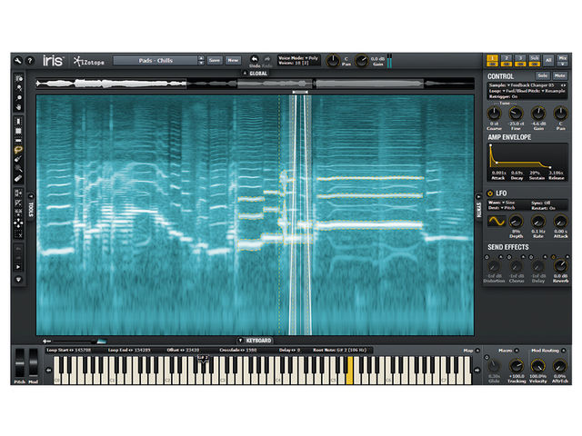 iZotope Iris's Spectrogram Display provides a tweakable 3D view of your samples.