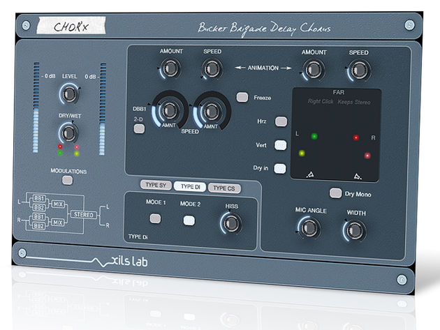 XILS-lab's Chor'X plug-in offers three distinctive chorus sounds.
