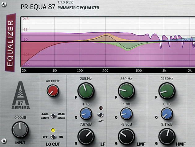 A spectral analyser means you can see what effect your EQ settings are having on the sound.