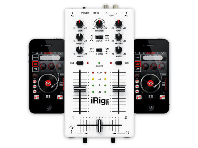 Whether attached to two devices or one, iRig Mix offers a great portable DJing solution.