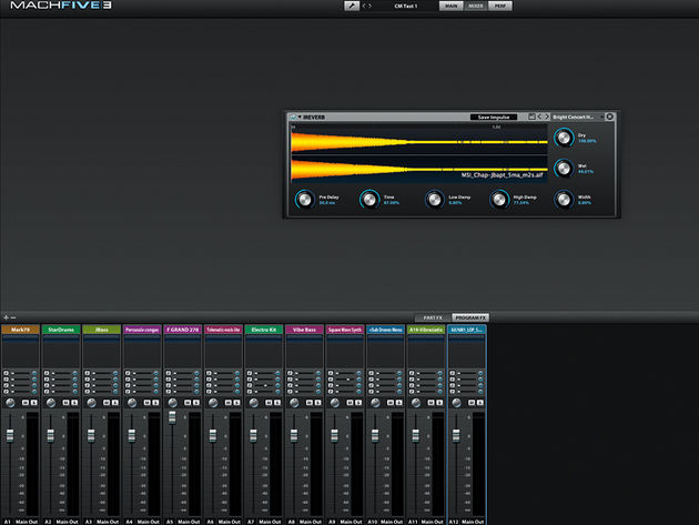 MachFive 3's mixer environment is stuffed with functionality, including an extraordinary array of effects.