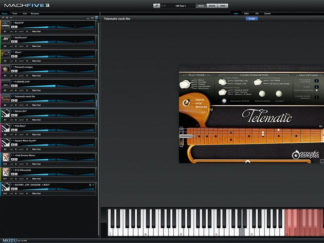 MachFive 3 includes seven outstanding scripted instruments for realistic performances full of nuances.