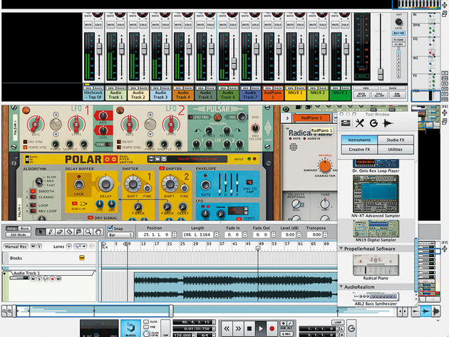 Rack Extensions in Propellerhead's Reason 6.5 function just like regular Devices.