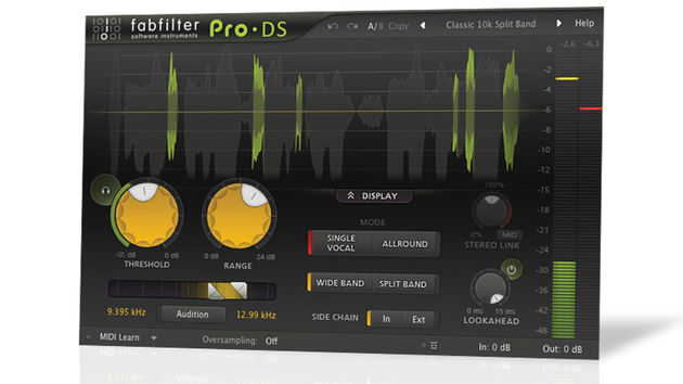 The Pro-DS de-esser is the latest in FabFilter's Pro range of 'workhorse' plug-ins.