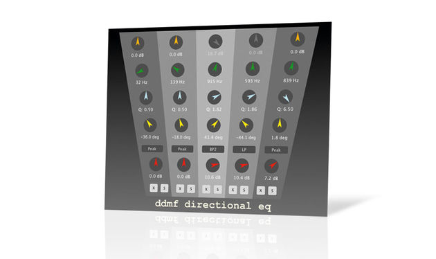 DirectionalEQ combines EQ and panning, the aim being to modify the frequencies of specific parts of the stereo image