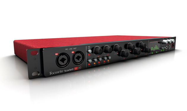 As implied by the name, the 18i20 has 18 inputs and 20 outputs, with eight mic preamps and phantom power