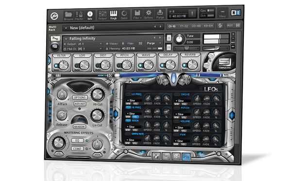 The interface is one of the more ambitious we've seen in a Kontakt instrument, but it's still functional