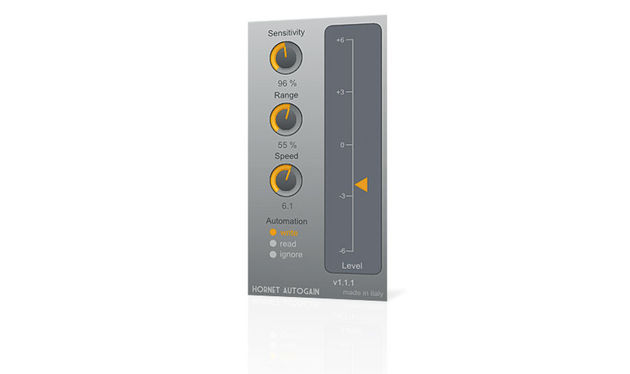 The main signal is adjusted to keep up with the sidechain, with visual feedback via the orange arrow