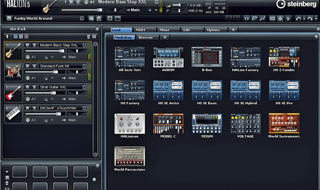 HALion now boasts a total of 16 sound categories, eight of which use the swish new macro interfaces