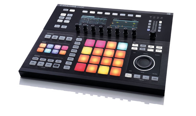 The Maschine Studio controller is a big, spacious slab of a thing that gives off a profound impression of solidity and quality