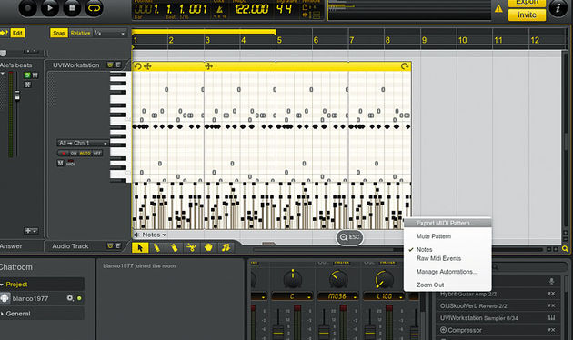The MIDI editor offers basic quantise and some useful features like MIDI pattern export