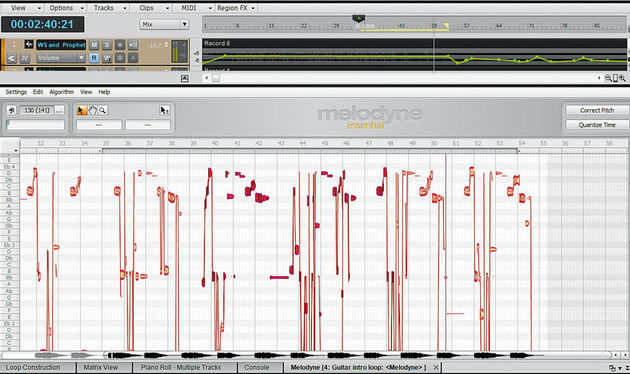 Melodyne Essential seamlessly integrates top-drawer pitch and time correction into Sonar
