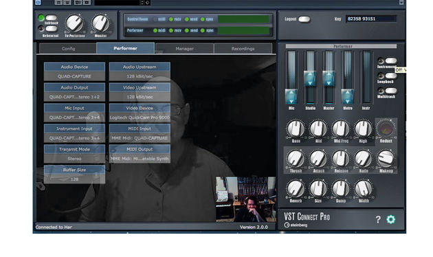 The free VST Connect Performer is the remote musician's ticket to faraway studio sessions