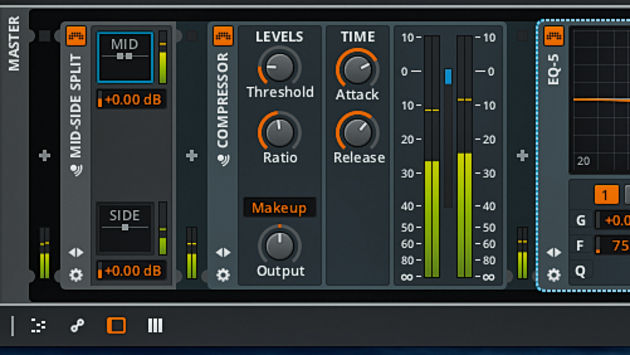 Bitwig's Mid-Side device is one of a number of handy routing Containers.