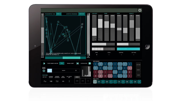Lemur is a multitouch MIDI/OSC controller, the specifics of which are entirely user-programmable