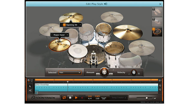 Dirigez votre batteur virtuel au moyen d'options étendues disponibles sur la version 2
