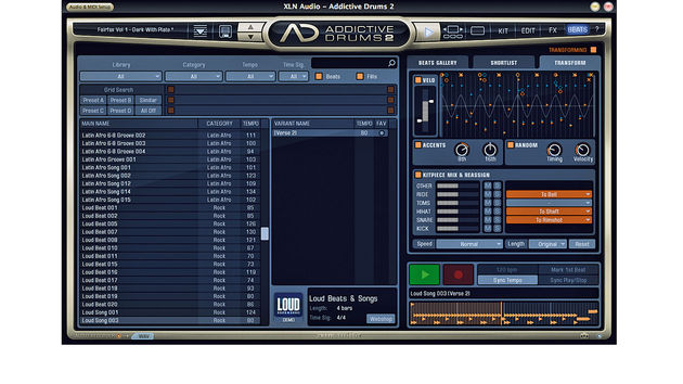 You can modify AD's MIDI beats by fine-tuning velocity, modifying accents and randomising velocity and timing