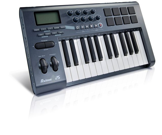 The M-Audios are two-octave MIDI contoller keyboards.