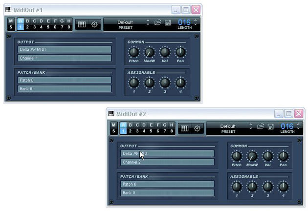 Orion includes the simple MIDIOut plug-in.