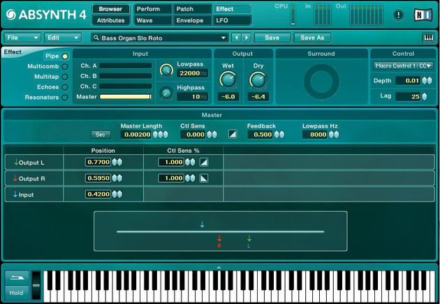 The interface is a little clearer in Absynth 4.