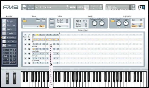 Анжи - Томь 2:0. Native Instruments FM8 Arpeggiator. Постоянная ссылка для