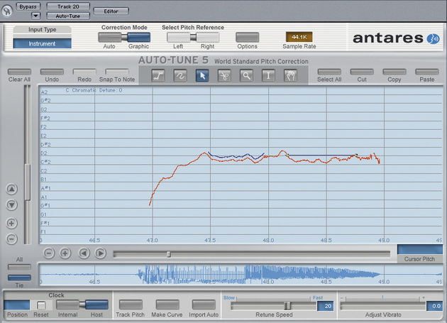 Auto-Tune 5 runs in time with your host.