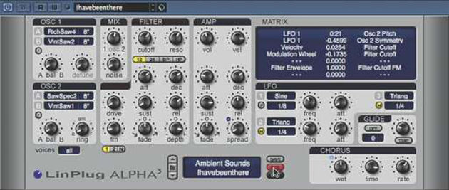 Alpha 3: partly inspired by the classic polysynths of the 80s