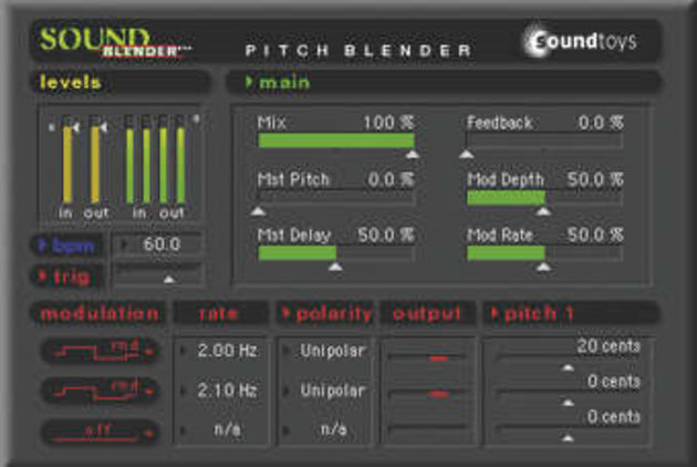 The H3000-influenced SoundBlender effect remains TDM-only... for now.