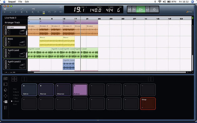 Even if you don't use it for live work, the Arranger is handy for arranging song ideas