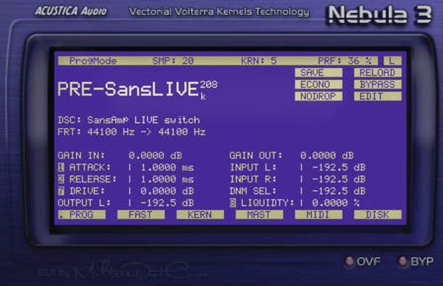 An emulation of a SansAmp guitar preamp.
