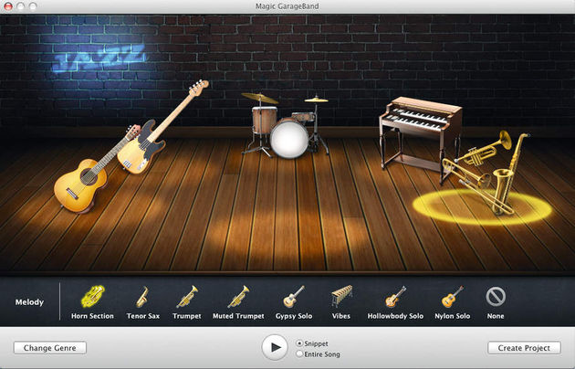 Magic GarageBand is strictly for beginners