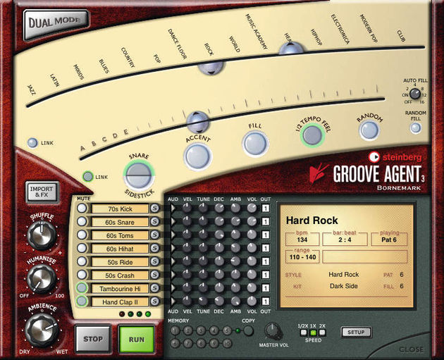 The Groove Agent 3 interface remains relatively simple