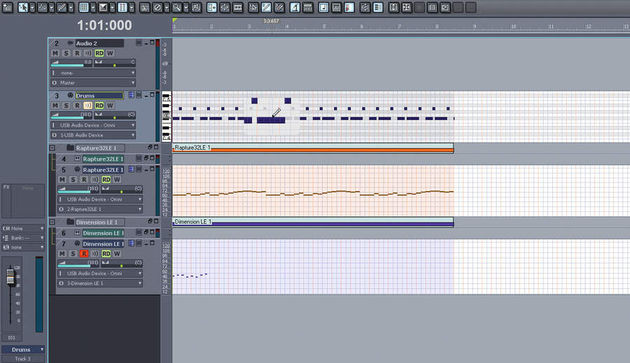 The MIDI Magnifier makes it easy to edit MIDI in the arrangement view.