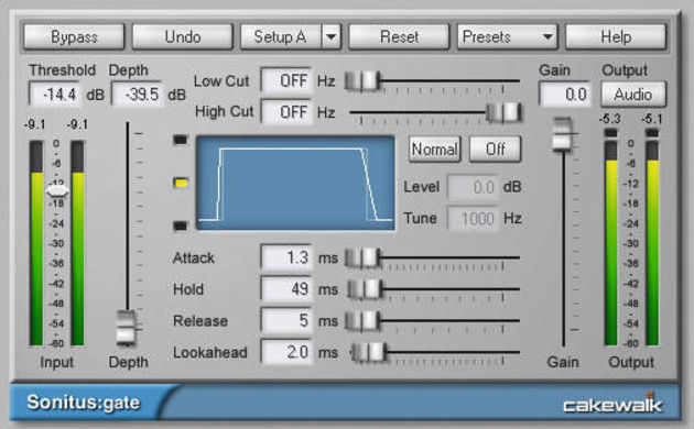 The Sonitus gate plug-in is sidechain-ready.