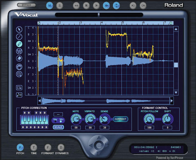 The Roland V-Vocal plug-in can now convert audio into MIDI data.