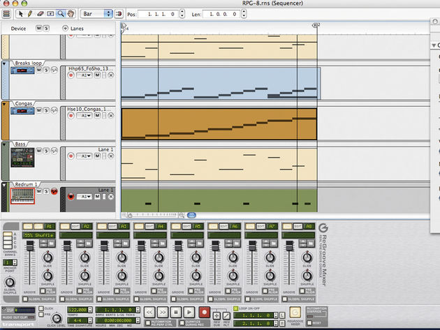 The sequencer in Reason 4 is much more powerful than the one in previous versions.