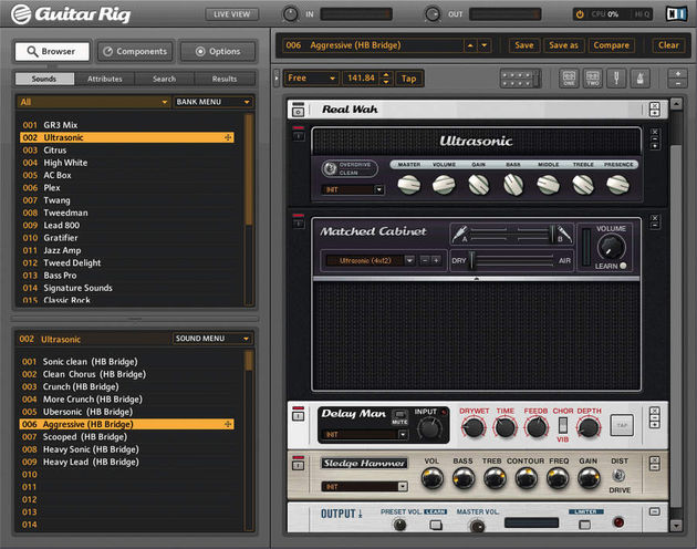 The Guitar Rig interface is easier on the eye than before.