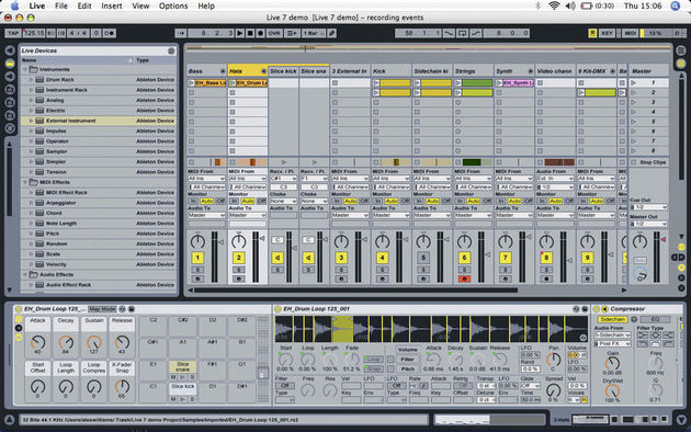 Slicing a drum loop with Drum Racks