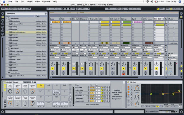 The Drum Machines soundbank make great use of the new Drum Racks
